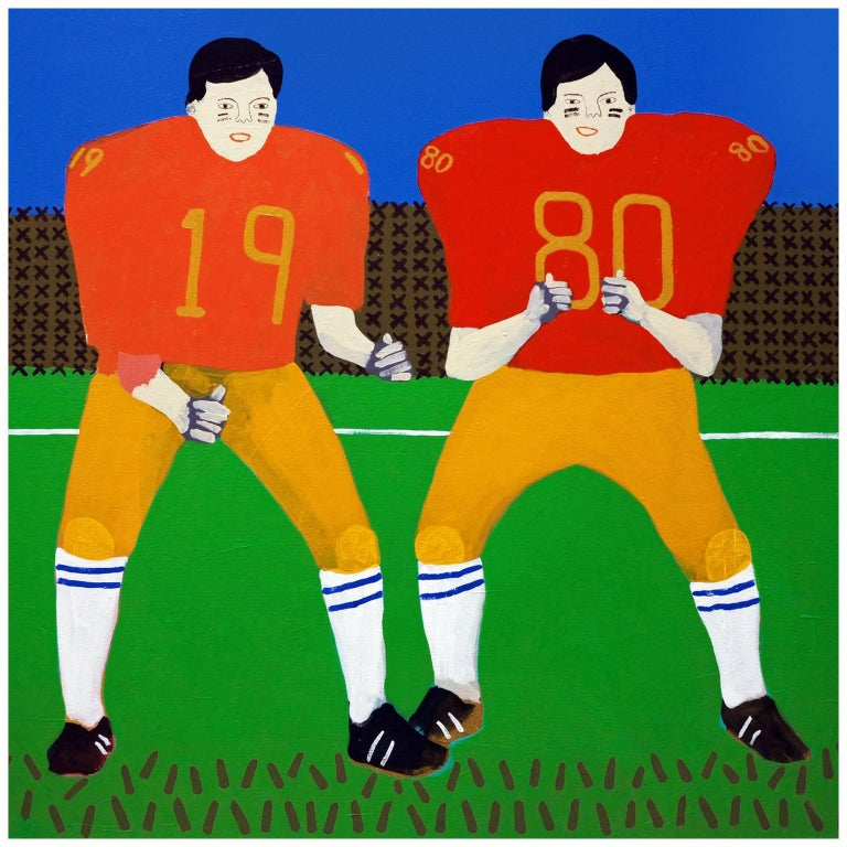 'The Last Stand' Football Portrait Painting by Alan Fears Pop Art For Sale