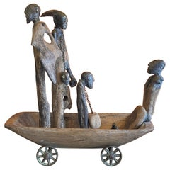 """""""The Last Voyage"""" Large Hand Carved Figural Sculpture by Peter Eugene Ball"""