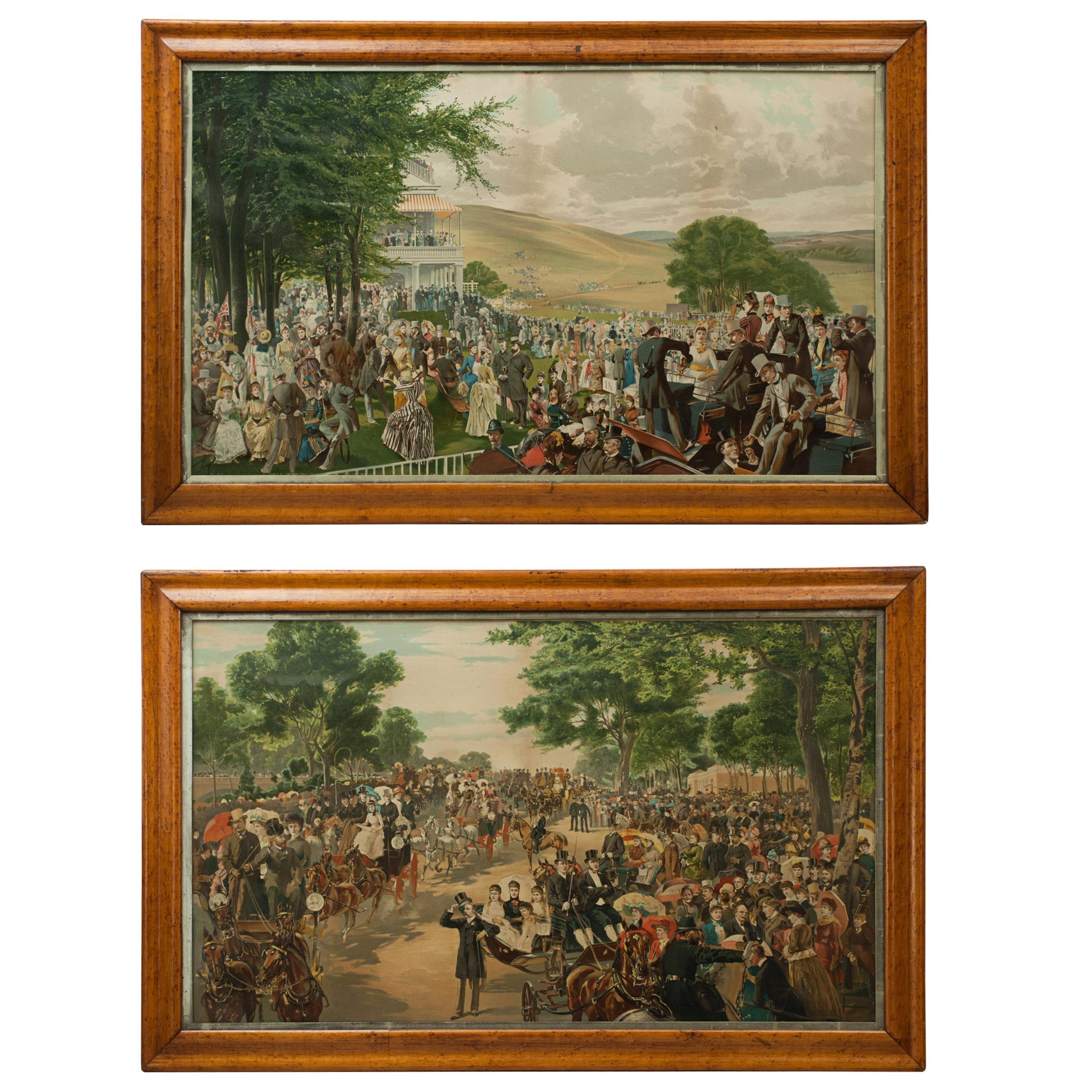 The Lawn at Goodwood and The Meet of the Four-in-Hand Club, Hyde Park