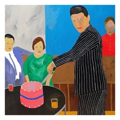 'the Leaving Party' Portrait Painting by Alan Fears Pop Art