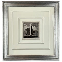 """The Letter """"T"""" by L. Vanvitelli in a Hand Leafed Frame"""