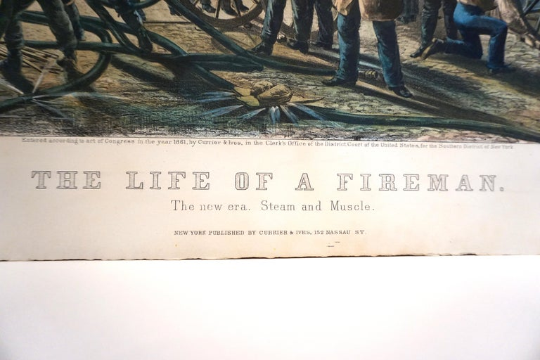 A rare folio size colored lithograph by Currier & Ives titled