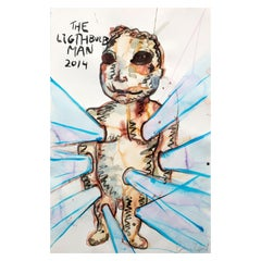 The Lightbulb Man by Bjarne Melgaard