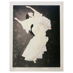 """""""The Lightness of Being"""" Archival Print on Textured Watercolor Paper, Dancer"""