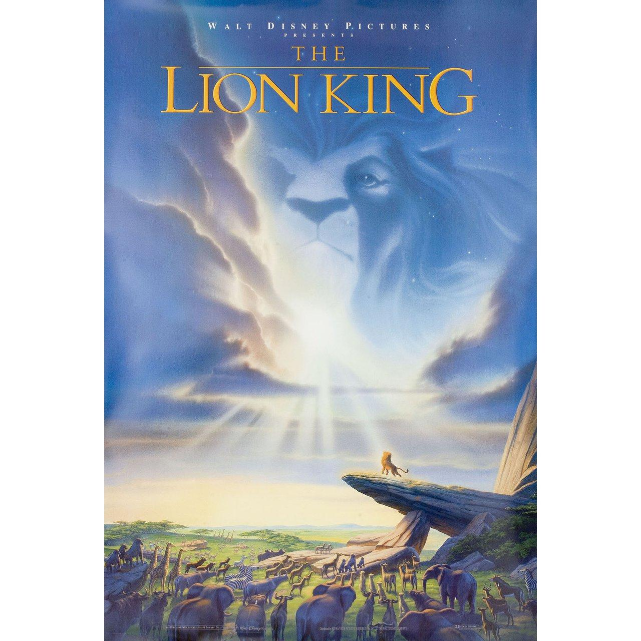 The Lion King 1994 U S One Sheet Film Poster For Sale At 1stdibs