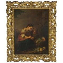 """The little fruit seller"" Oil on Canvas after Bartolomé Esteban Murillo"