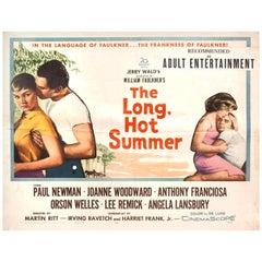'The Long, Hot Summer' 1958 U.S. Half Sheet Film Poster