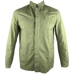 THE LOST EXPLORER Size L Green Cotton Hidden Buttons Jacket
