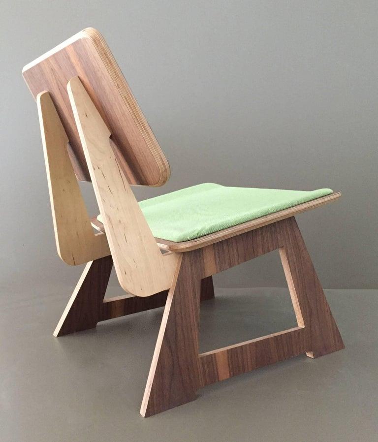 Plywood Mafoo Lounge Chair Walnut veneered plywood handmade by Lee Matthews For Sale