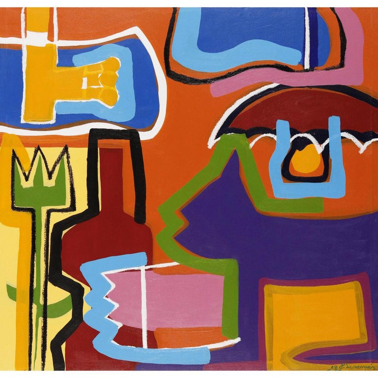 """""""The Magical Colors"""" Contemporary Art, Abstract Expressionist, Acrylic on Canvas For Sale"""