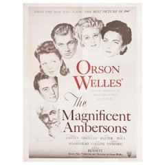 The Magnificent Ambersons R1960s U.S. Film Poster