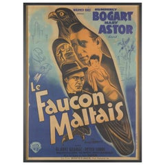 """The Maltese Falcon"" / ""Le Faucon Maltaise"" Film Poster"