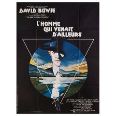 'The Man Who Fell to Earth' 1976 French Grande Film Poster
