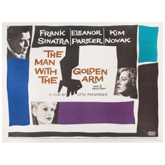 """The Man with the Golden Arm"" 1956 British Quad Film Poster"