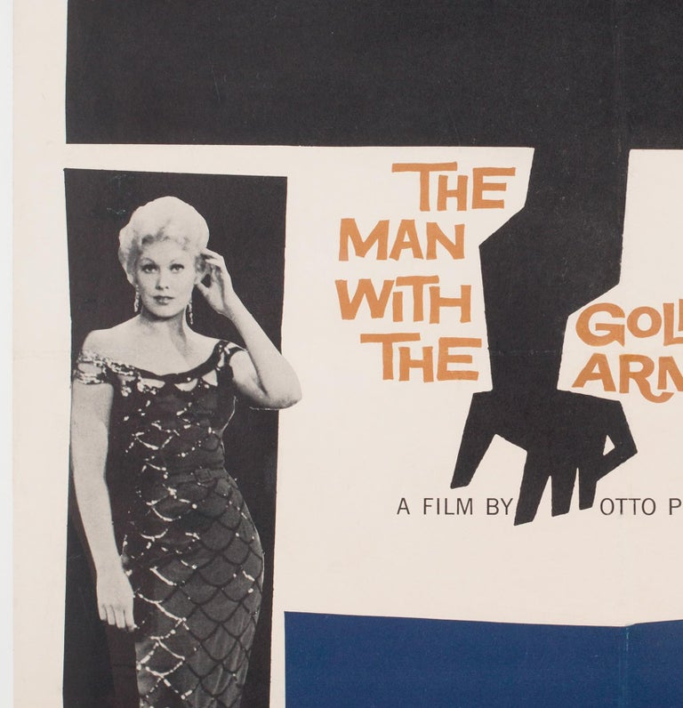 'The Man with the Golden Arm' 1956 US 1 Sheet Film Poster, Bass In Good Condition For Sale In Bath, Somerset
