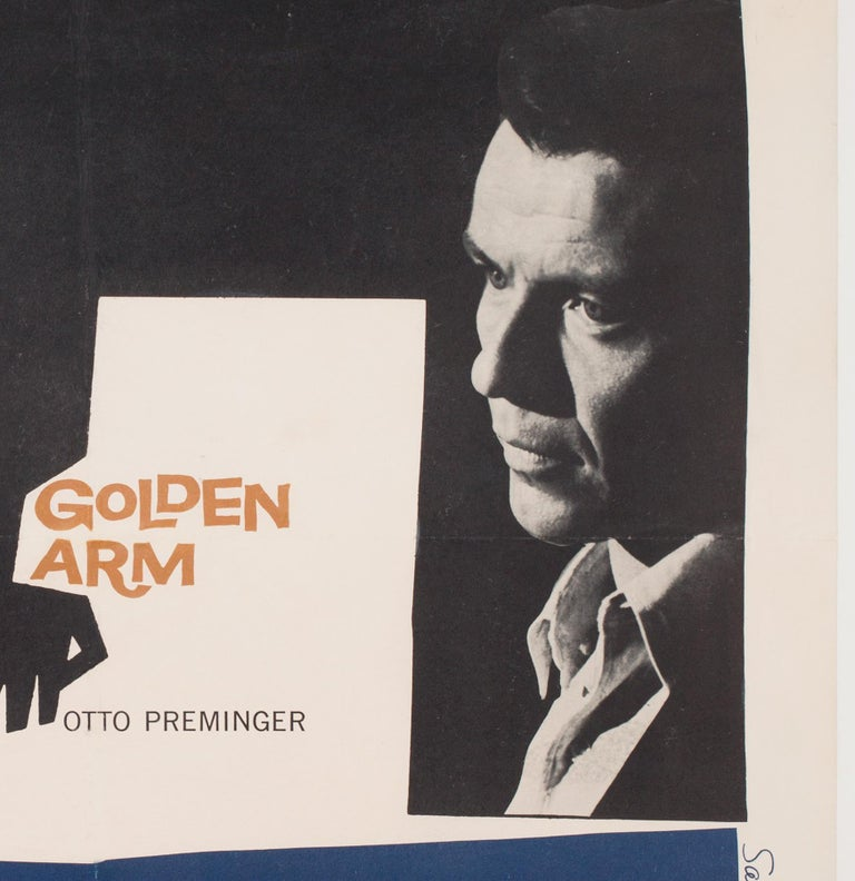 20th Century 'The Man with the Golden Arm' 1956 US 1 Sheet Film Poster, Bass For Sale