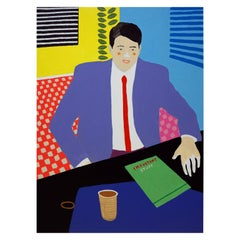 'The Management Position' Figurative Portrait Painting by Alan Fears Pop Art
