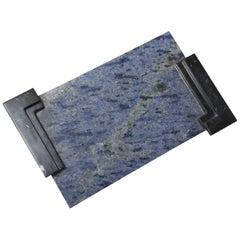 The Marble House Azul Bahia Tablett, Handgemacht aus Italien