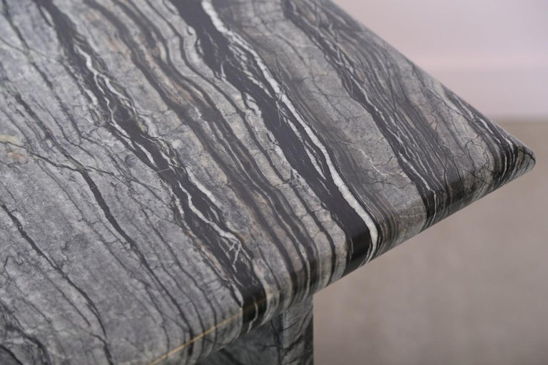 The Marble House Black Wood High Side Table, Handmade in Italy For Sale 5