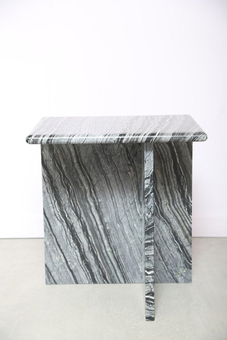 The Marble House Black Wood High Side Table, Handmade in Italy For Sale 6