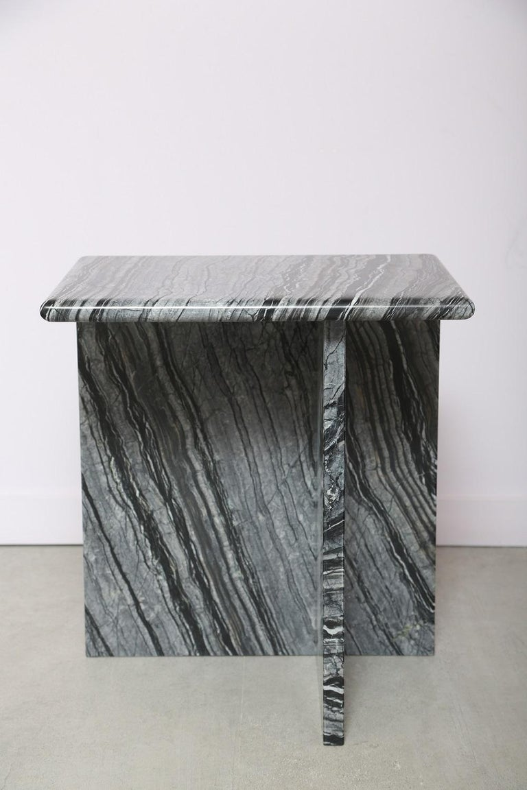 The Marble House Black Wood High Side Table, Handmade in Italy For Sale 7