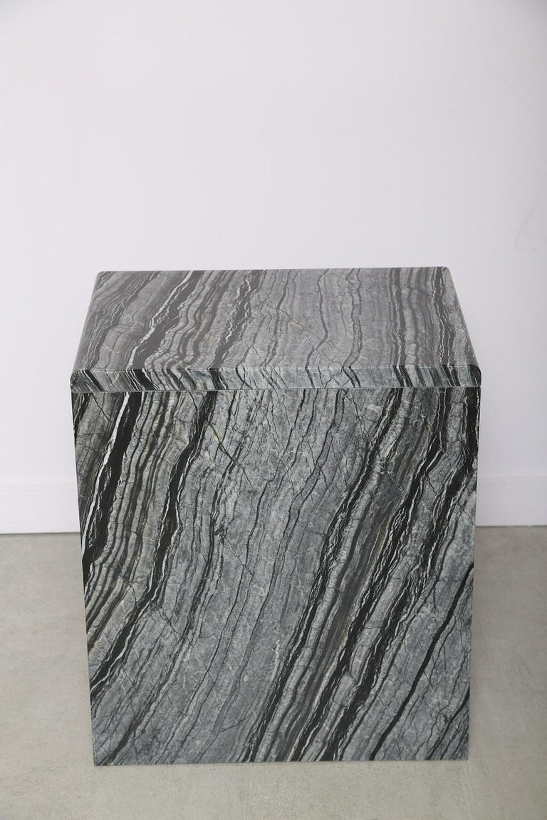 The Marble House Black Wood High Side Table, Handmade in Italy In New Condition For Sale In Miami, FL