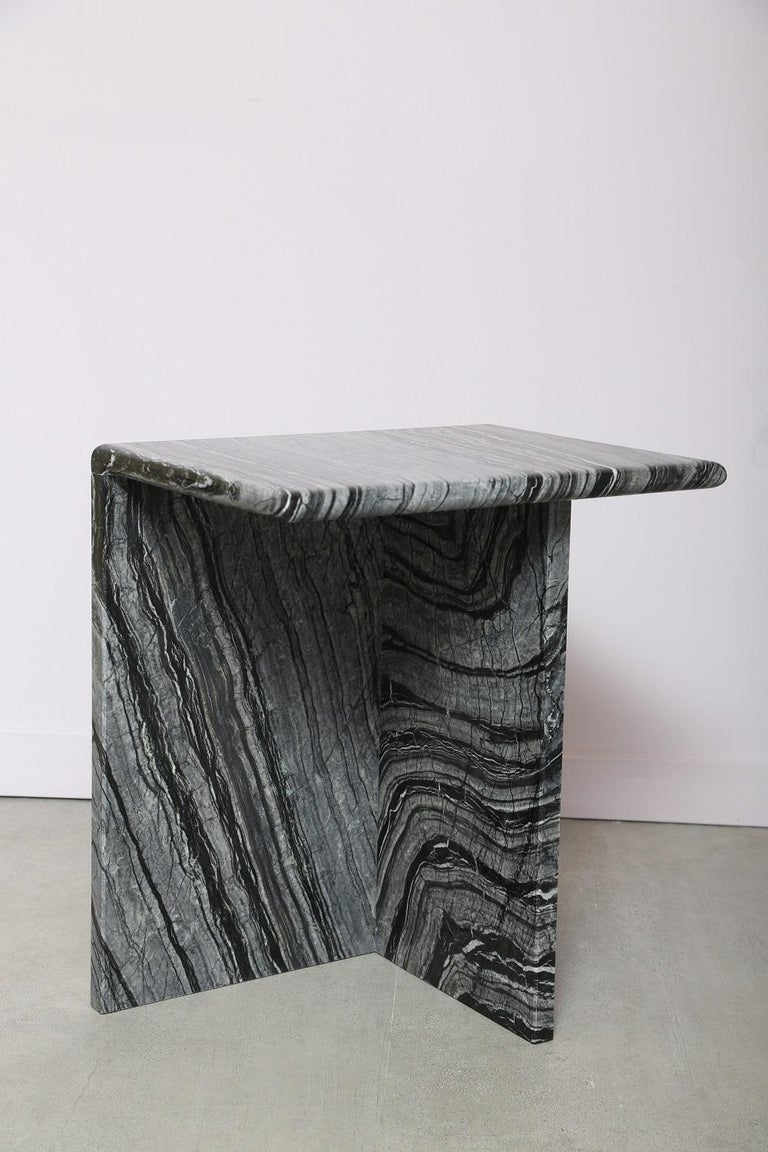 The Marble House Black Wood High Side Table, Handmade in Italy For Sale 2
