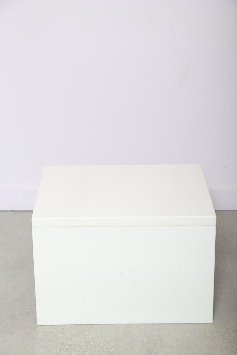 The Marble House White Sivec and Azul Low Side Table For Sale 1