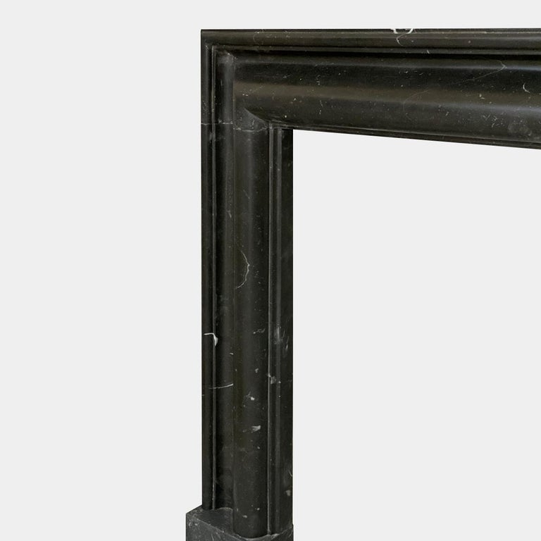 English Marmorea Bolection Fireplace Mantel in Irish Kilkenny Marble For Sale