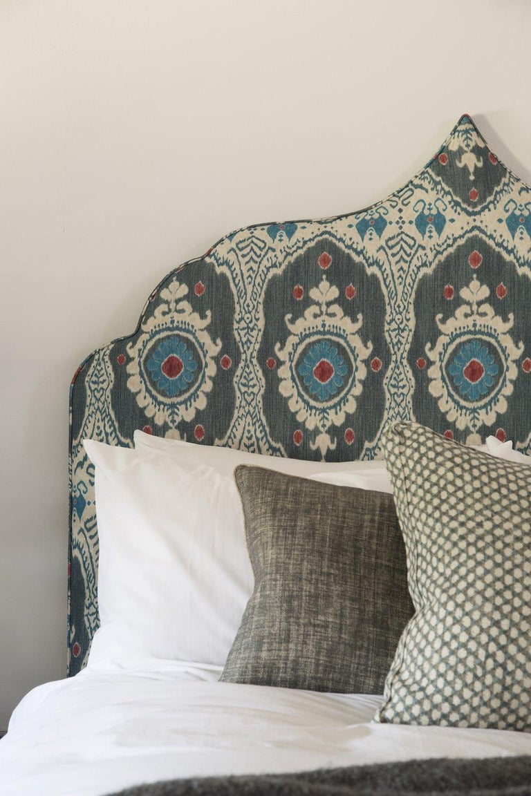 Made to order from our bespoke upholstery collection, the Marrakech is a luxury upholstered headboard, handmade to order in our Cotswold upholstery studio.  Price shown is for King Size model as per imagery. Excludes fabric (if you need help