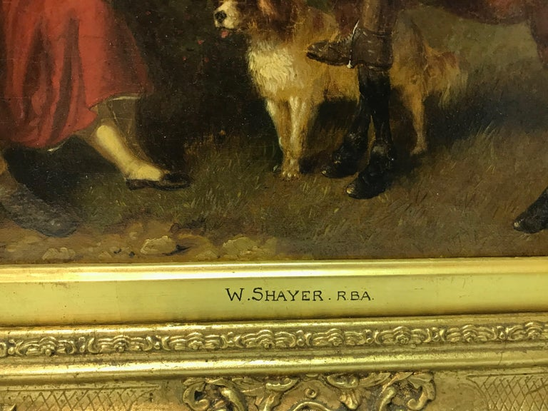 Shayer lived a long life and was a very prolific painter. He painted mainly in Hampshire and exhibited at the Royal Academy.  His work is in many Provincial museums. Signed.