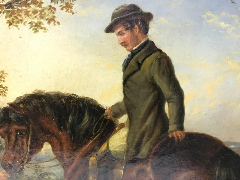 Oiled The Master Greeting Gypsies by William Shayer For Sale