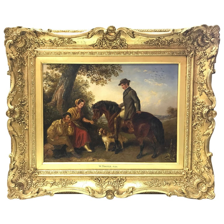 The Master Greeting Gypsies by William Shayer For Sale