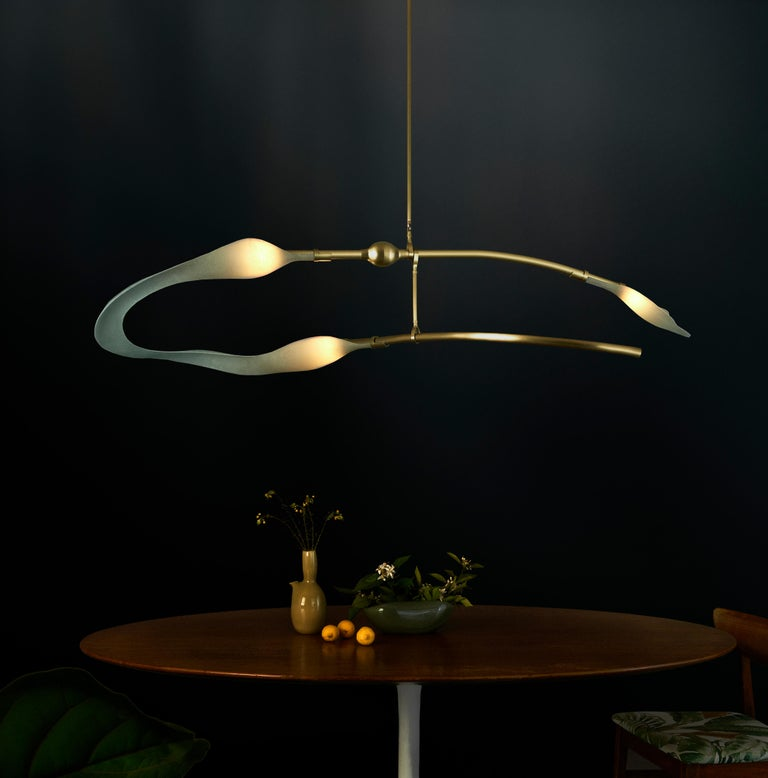 Modern McTavish Chandelier from the Pisces Collection by Andrea Claire For Sale