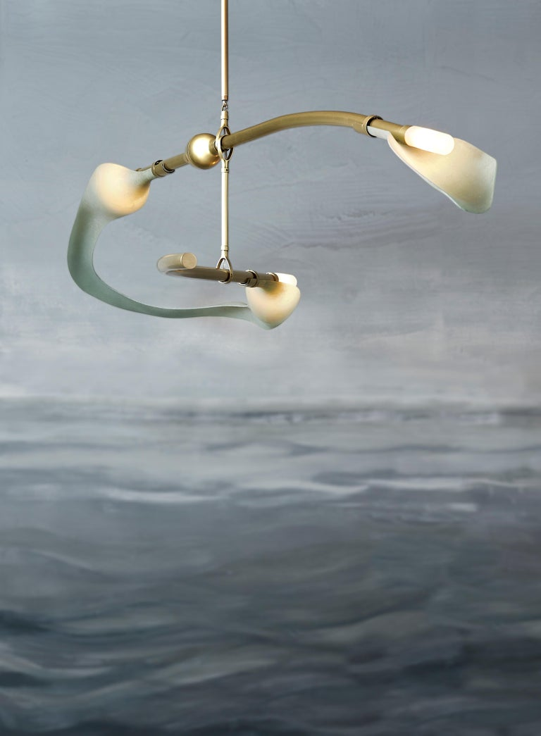 American McTavish Chandelier from the Pisces Collection by Andrea Claire For Sale