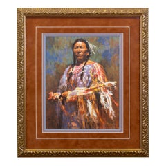 Medicine Pipe Limited Edition Print by Howard Terpning