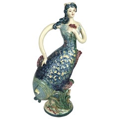 Mermaid Handmade Ceramic Vase Made in Italy