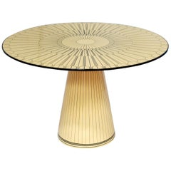 Metropolis Revisited Marquetry Dining Table by Matteo Cibic