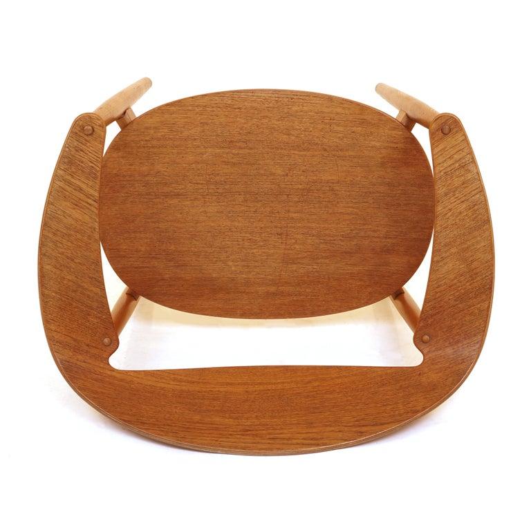 Modern The Metropolitan Chair in Teak by Ejnar Larsen & Aksel Bender Madsen, Denmark For Sale