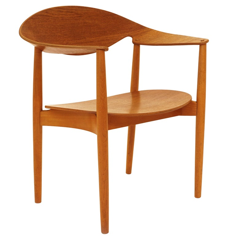 The Metropolitan Chair in Teak by Ejnar Larsen & Aksel Bender Madsen, Denmark For Sale
