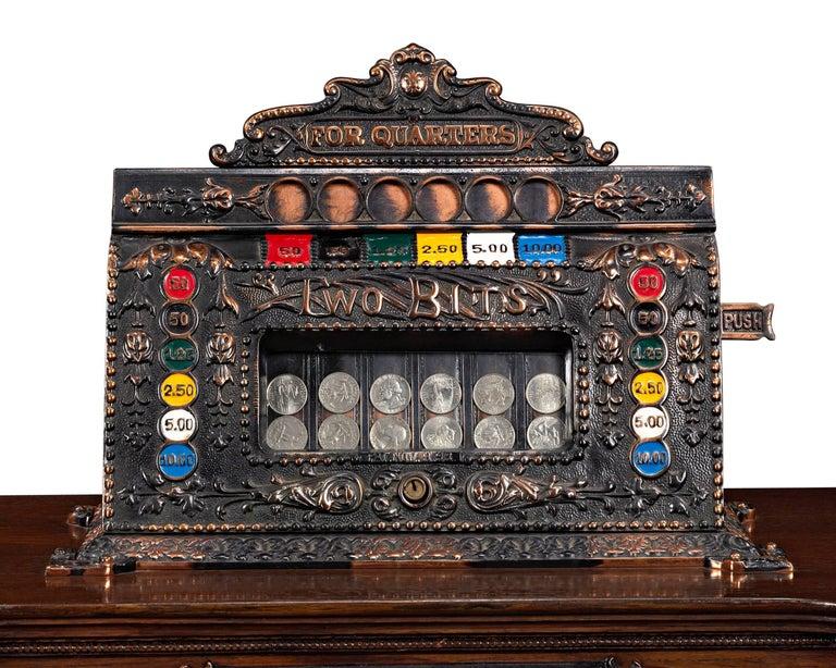 Carved Mills Dewey-Chicago Triplet Slot Machine