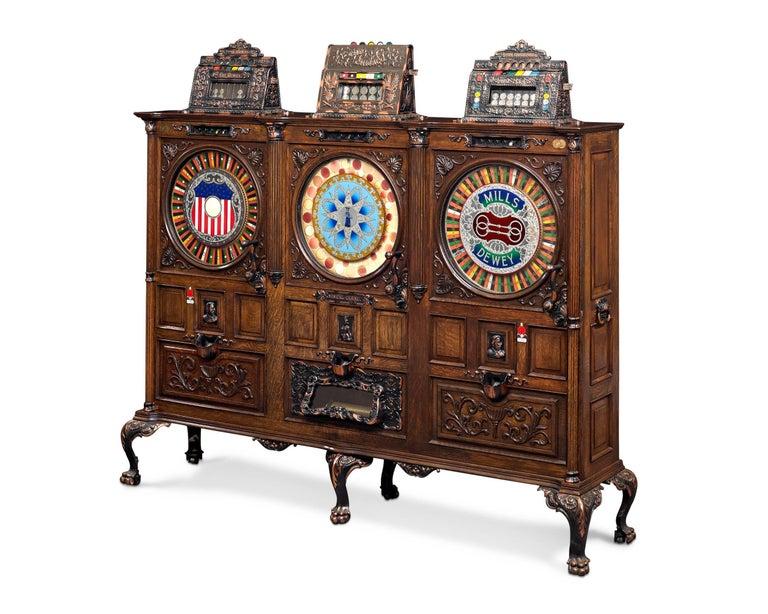 Mills Dewey-Chicago Triplet Slot Machine For Sale 1