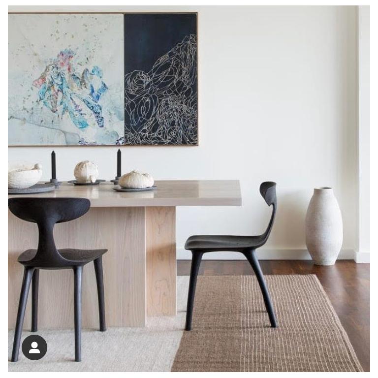 American The Miranda Chair in Blackened Ash from Munson Furniture