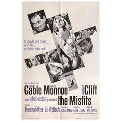 The Misfits 1961 U.S. One Sheet Film Poster