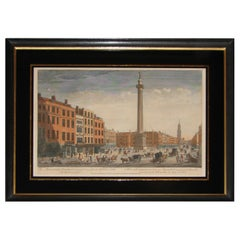 'The Monument of London' Georgian Copper Plate Etching by Thomas Bowles