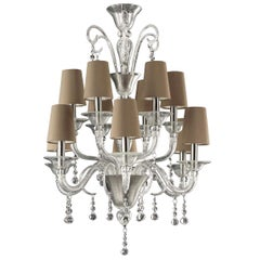 The Moon 12-Light Classic Murano Chandelier, Timeless Collection