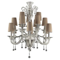 Moon 15-Light Classic Murano Chandelier, Timeless Collection
