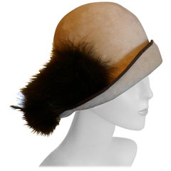 The Most Beautiful 1920s Felt Fur Cloche Hat by Bermona