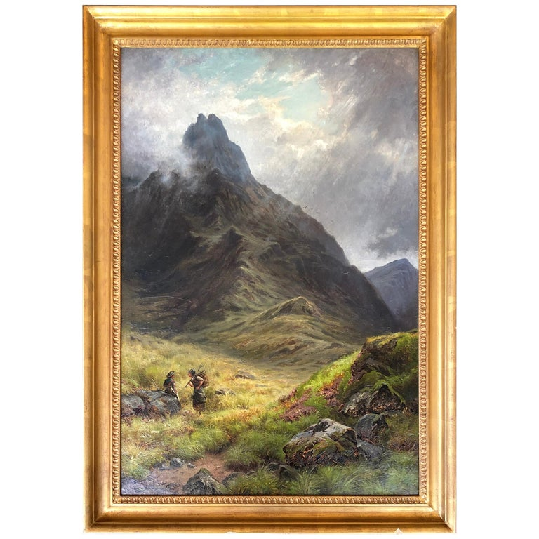 'The Mountain Pass' by G. Wright For Sale