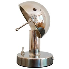 "Mushroom Table Lamp in Nickel or Copper, Hungarian ""Gomba Lampa"""